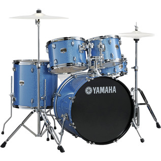 Yamaha Gigmaker 22'' Rock Drum Kit, Blue Ice Glitter