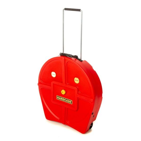 "Hardcase 9 Cymbal Case with Dividers, 22"", Red - main image"