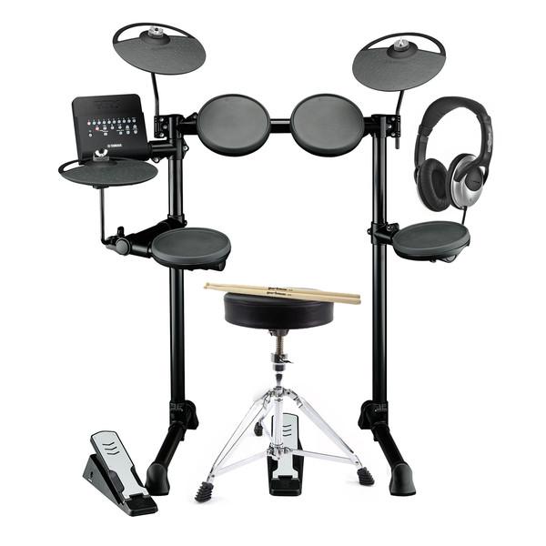Yamaha DTX400K Electronic Drum Kit with Headphones, Stool + Sticks