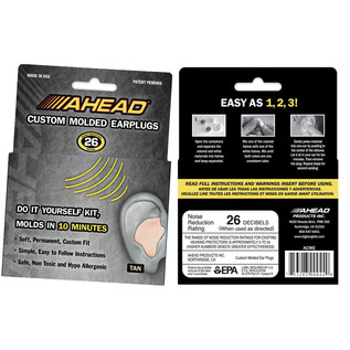 Ahead Custom Moulded Earplugs, Pair