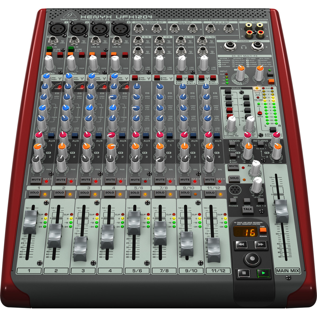 Behringer xenyx ufx1204 table de mixage petit format gear4music - Table de mixage behringer ...