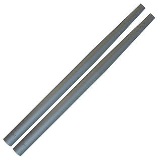 Ahead Short Taper Silver Cover For RK/TS/TC/5B/5BR, Pair
