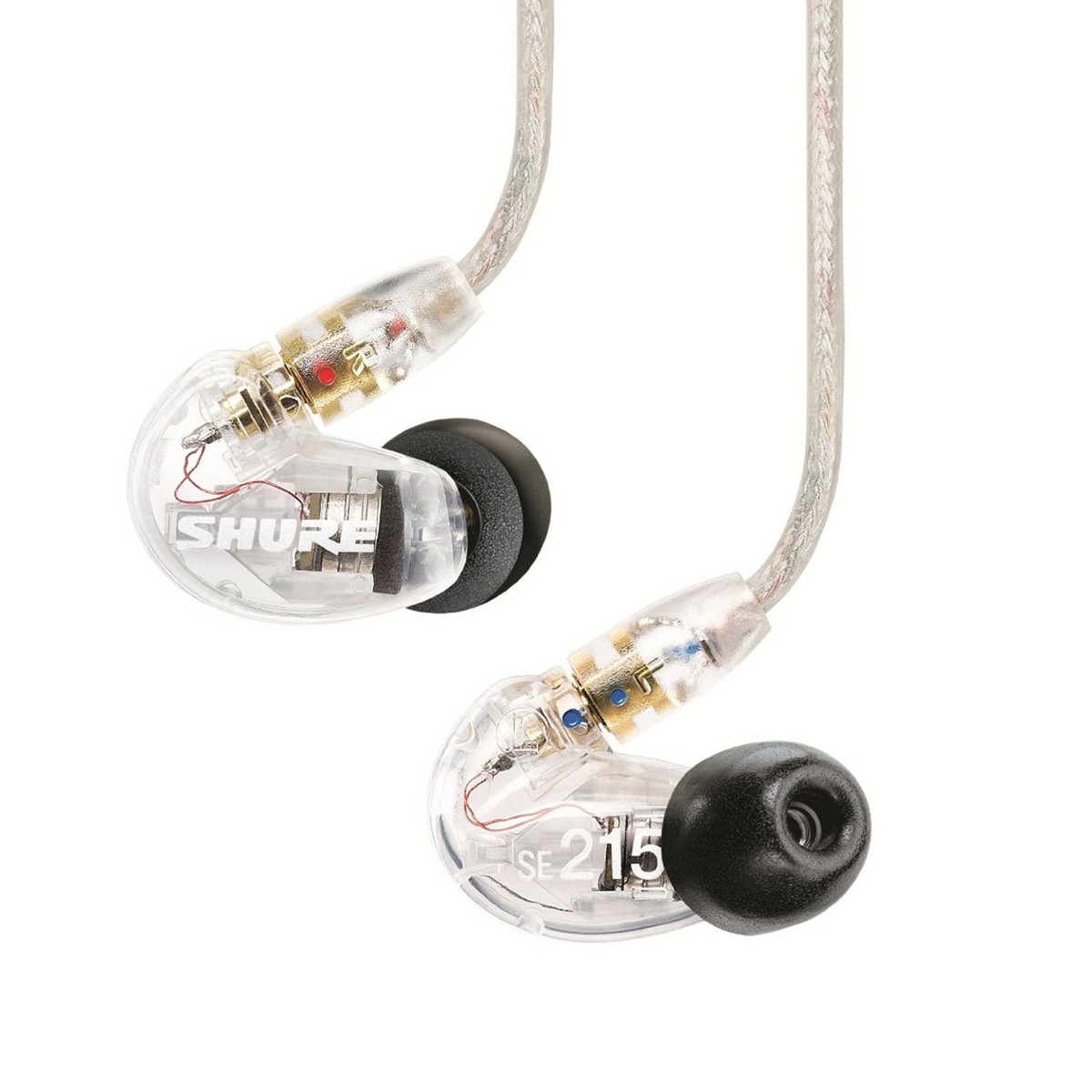 Shure SE215 Sound Isolating Earphones, Clear
