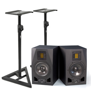 Adam A5X Active Studio Monitors with Stands, Pair