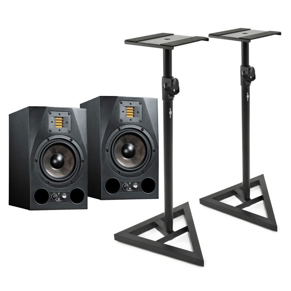 Adam A7X Active Studio Monitors, Pair with Free Stands