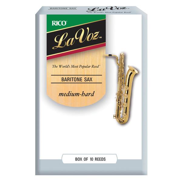 Rico La Voz Baritone Saxophone Reeds Medium-Hard, 10 Box