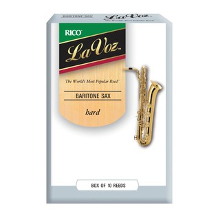 Rico La Voz Baritone Saxophone Reeds Hard, 10 Box