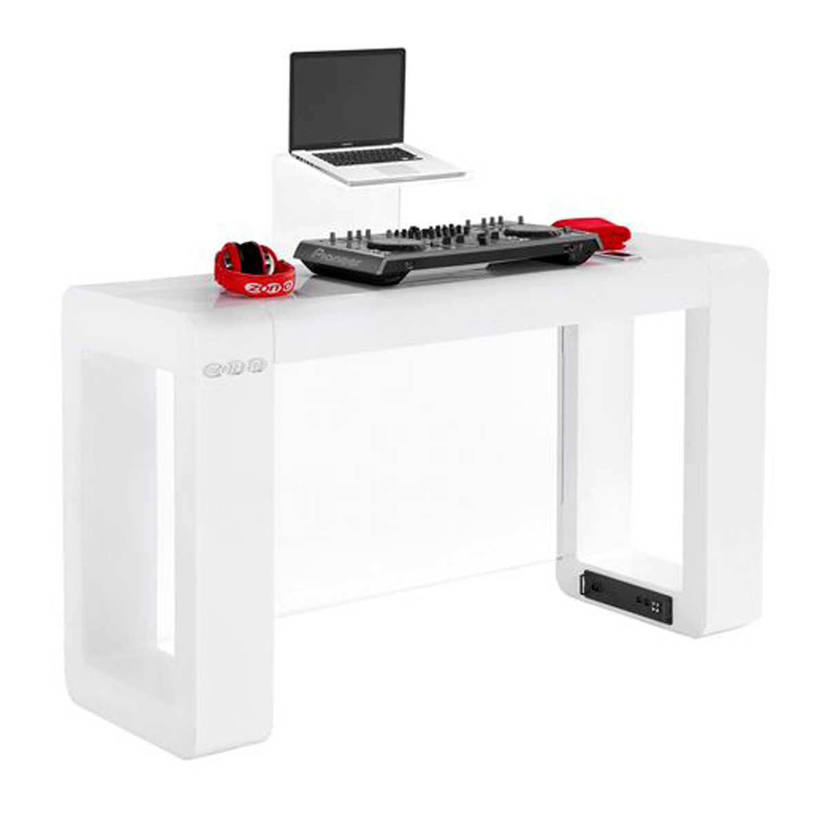 Furniture For Less Miami: Zomo Deck Stand Miami MK2, White At Gear4music.com