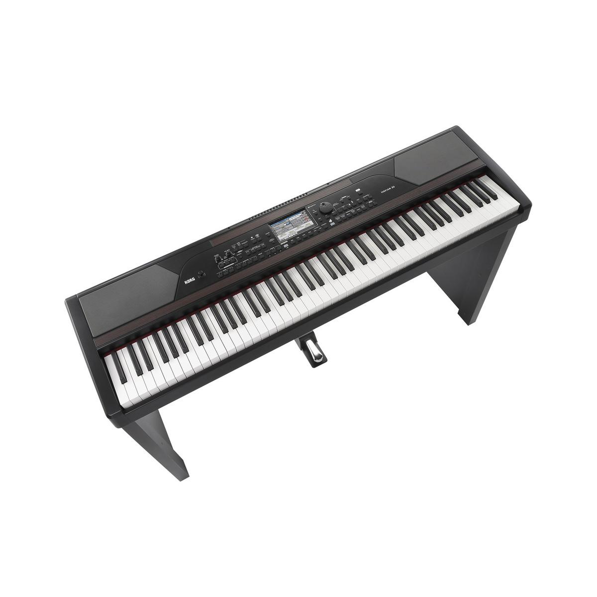 Korg havian 30 piano digitale ensemble con stand gratuito for Micro piano casa compatto