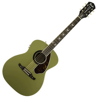 Fender Tim Armstrong Hellcat Electro Acoustic Guitar, Honor Green