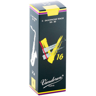 Vandoren V16 Tenor Saxophone Reeds, Strength 1.5, Box of 5