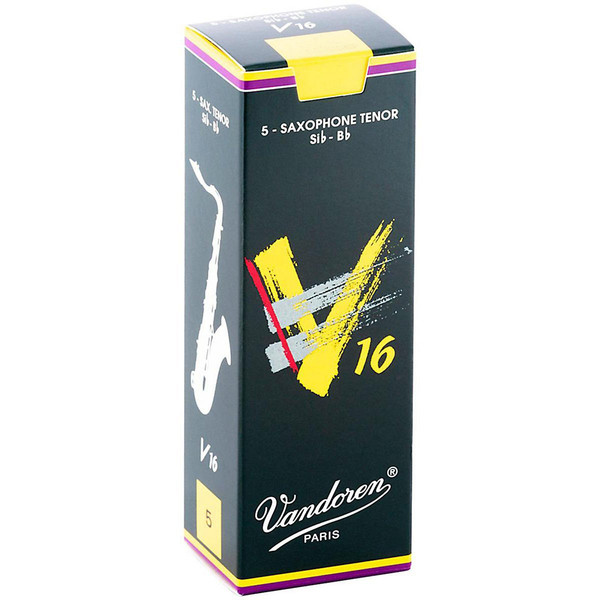 Vandoren V16 Tenor Saxophone Reeds, Strength 1.5, Box of 5