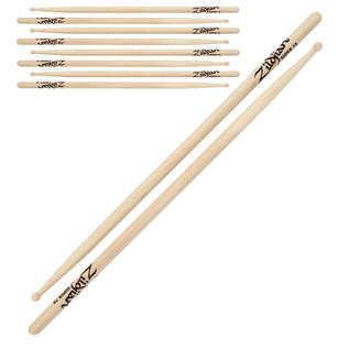 Zildjian Super 7A Wood Tip Drumsticks, 4 Pack