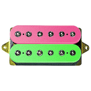 DiMarzio DP158 Evolution Neck F Spaced Humbucker Pickup, Pink/Green