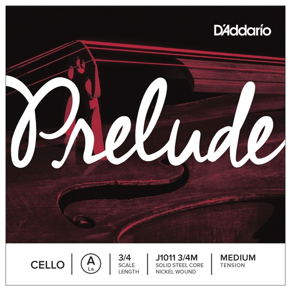 D'Addario Prelude Cello 3/4 Scale Medium Tension Set