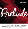 D'Addario Prelude Violin E String 4/4 Scale, Medium Tension