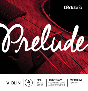 D'Addario Prelude Violin A String 3/4 Scale, Medium Tension