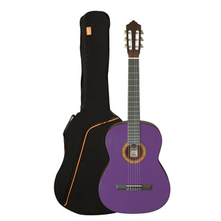Ashton SPCG12 1/2 Size Classical Guitar Pack, Transparent Purple