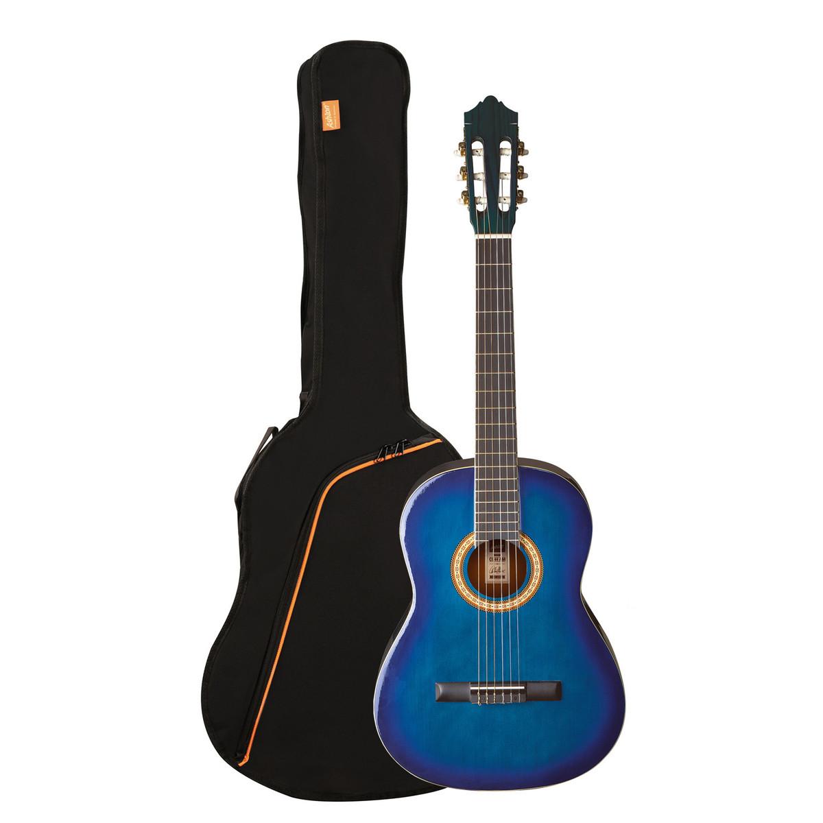 disc ashton spcg34 3 4 taille guitare classique pack bleu. Black Bedroom Furniture Sets. Home Design Ideas