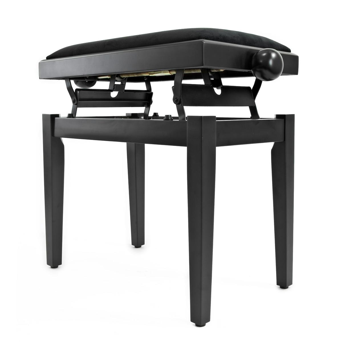 tabouret de piano r glable par gear4music noir mat comme neuf gear4music. Black Bedroom Furniture Sets. Home Design Ideas