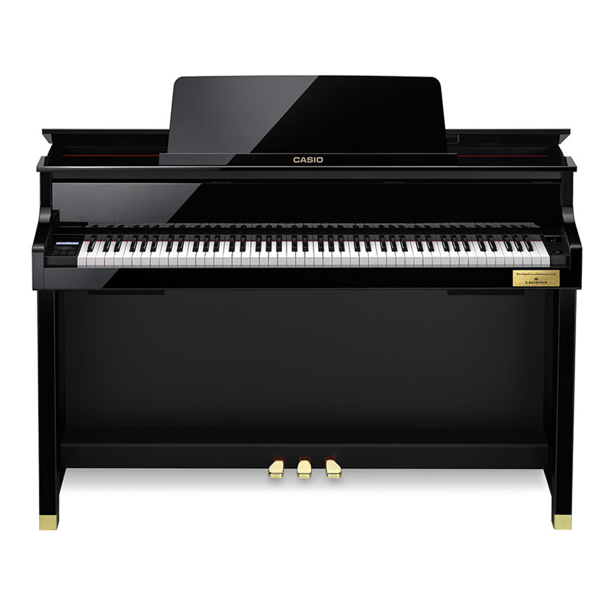 casio celviano gp500 grand hybrid digital piano polished ebony at. Black Bedroom Furniture Sets. Home Design Ideas