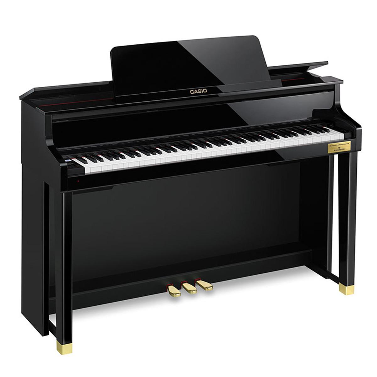 casio celviano gp500 grand hybrid digital piano polished ebony at. Black Bedroom Furniture Sets. Home Design Ideas