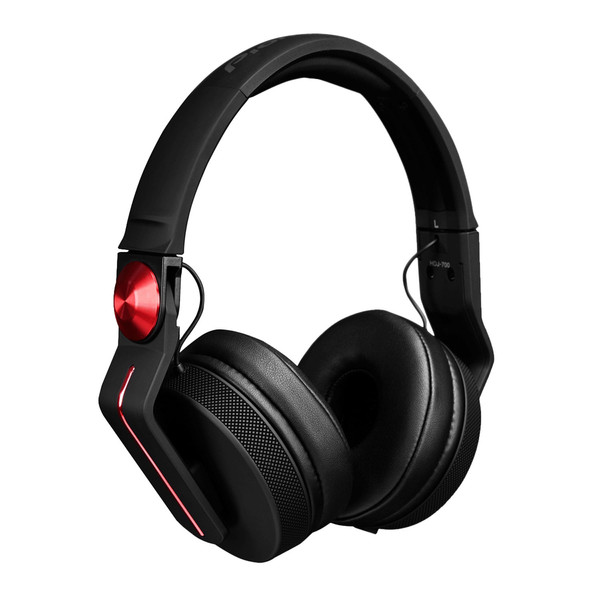 Pioneer HDJ-700 Professional DJ Headphones, Black/Red