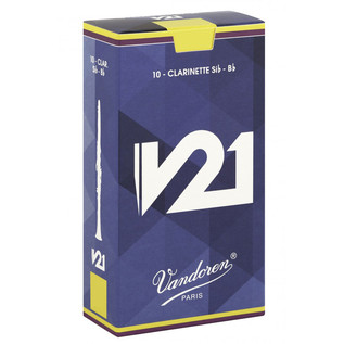Vandoren V21 Bb Clarinet Reed, Strength 3.0 (10 Pack)
