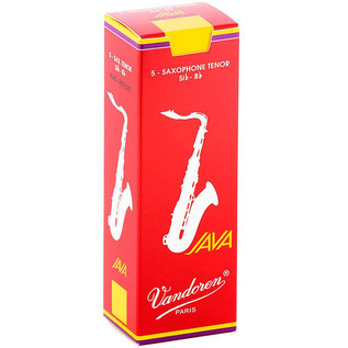 Vandoren Java Red-Cut Tenor Saxophone Reeds, Strength 1.5, Box of 5