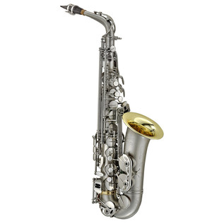 P Mauriat PMSA-87 Alto Saxophone, Nickel Silver with Gold Plated Bell