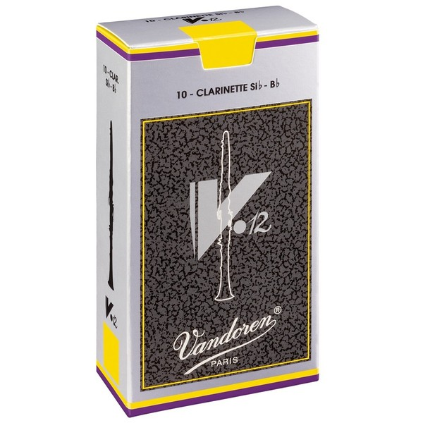 Vandoren V12 Bb Clarinet Reed, Strength 2.5 (10 Pack)