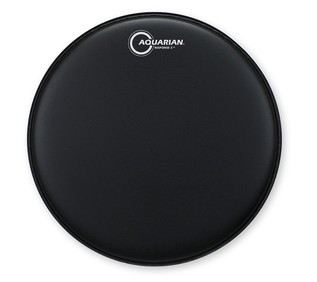 Aquarian Response 2 Texture Coated Two Ply 13'' Drum Head, Black