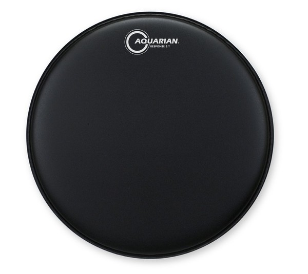 Aquarian Response 2 Texture Coated Two Ply 15'' Drum Head, Black