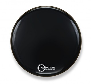 Aquarian Regulator 18'' Resonant Bass Drum Head w/ No Port, Black