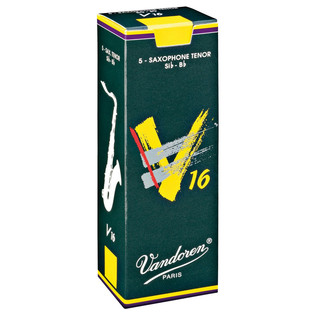 Vandoren V16 Tenor Saxophone Reeds, Strength 3.5 Box of 5