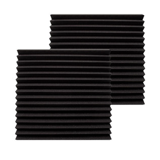 Ultimate Acoustics Wedge Studio Foam 24x24x2'' x2, Charcoal