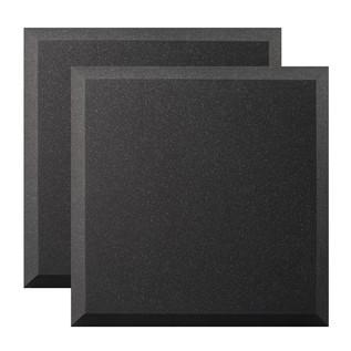 Ultimate Acoustics Bevel Studio Foam 24x24x2'' x2, Charcoal