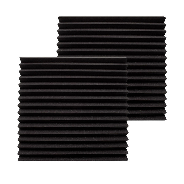 Ultimate Acoustics Wedge Studio Foam 12x12x2'' x2, Charcoal
