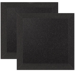 Ultimate Acoustics Bevel Studio Foam 12x12x2'' x2, Charcoal