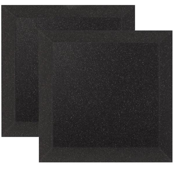 Ultimate Acoustics Bevel Studio Foam 12x12x2'' x2, Charcoal