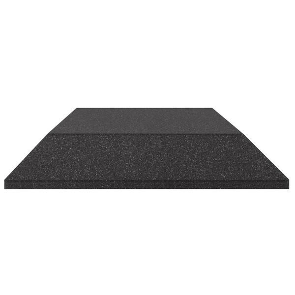 Ultimate Acoustics Bevel Studio Foam 12x12x2'' x2, Charcoal - Side