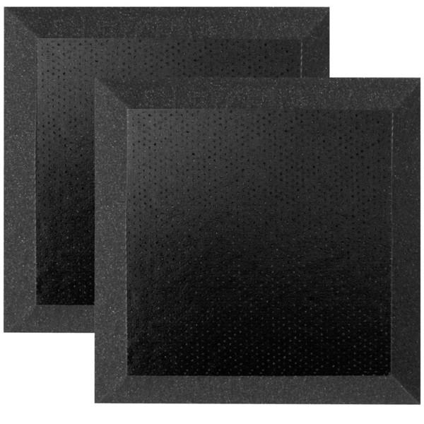 Ultimate Acoustics Bevel Studio Foam w/ Vinyl 12x12x2'' x2, Charcoal