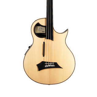 Warwick Alien Left Handed Fretless 4-String Bass, Natural Satin