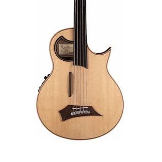 Warwick Alien Fretless 5-String Bass Guitar, Natural Satin