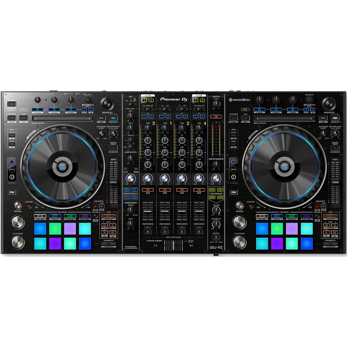 pioneer ddj rz professional dj controller at. Black Bedroom Furniture Sets. Home Design Ideas