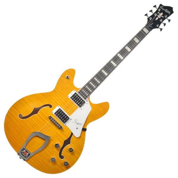 Hagstrom Super Viking Semi-Hollow Guitar, Dandy Dandelion