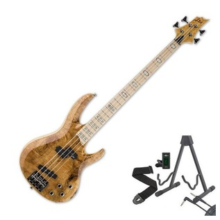 ESP LTD RB-1004BM 4-String Bass Guitar, Honey Natural + Free Gifts