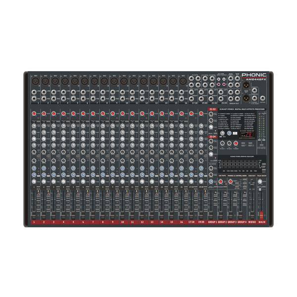 Phonic AM2442FX Analog Mixer With Digital EFX and GEQ