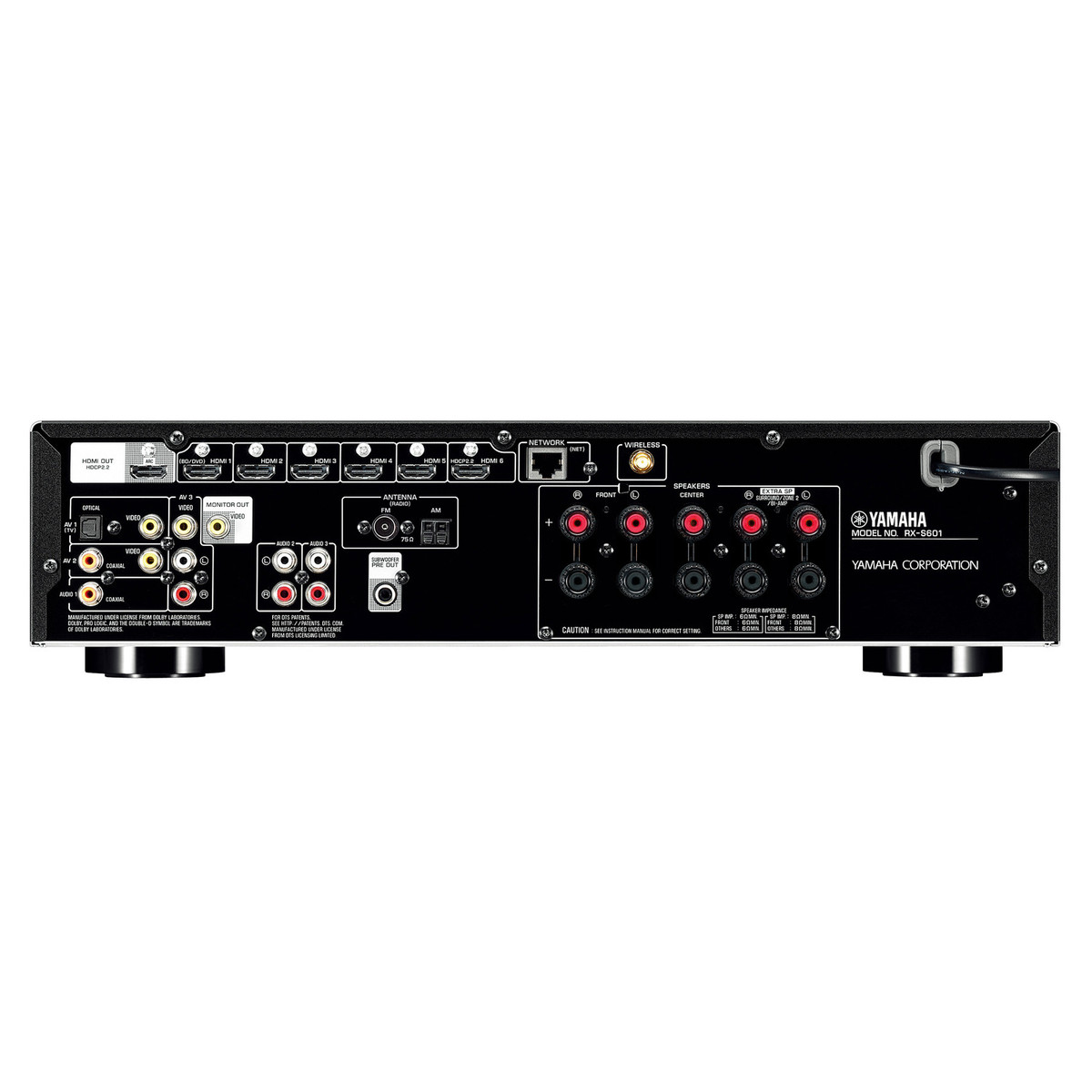 disc yamaha rxs601d av receiver with musiccast black at. Black Bedroom Furniture Sets. Home Design Ideas