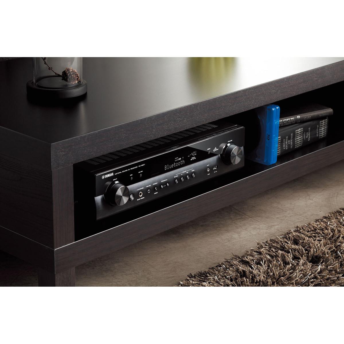 disc yamaha rxs601d av receiver with musiccast black at. Black Bedroom Furniture Sets. Home Design Ideas